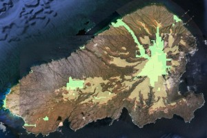 Satellite image of Kahoolawe