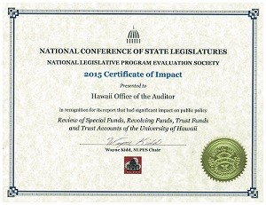 2015 NCSL Impact Award