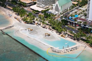 The Department of Land and Natural Resources' Waikīkī Beach sand replenishment project