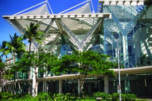 The Hawaii Convention Center is located near Waikiki in Honolulu